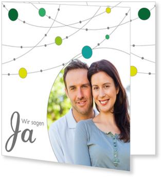 Einladungskarten Hochzeit, Verspielte Girlande