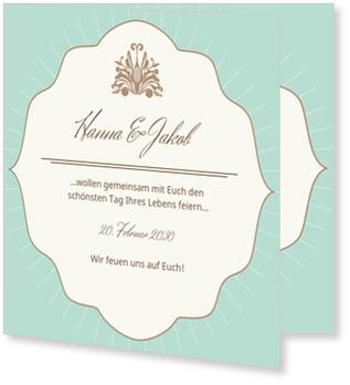 Einladungskarten Hochzeit, Vintage Chic