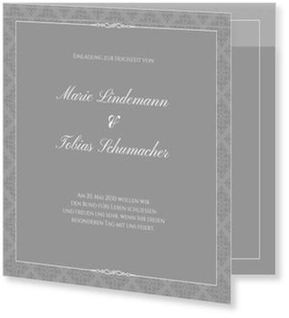 Einladungskarten Hochzeit, Vintagemuster