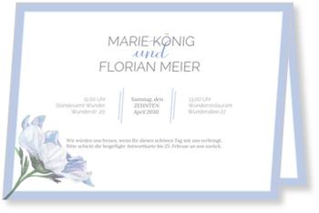 Einladungskarten Hochzeit, Zarte Blüte