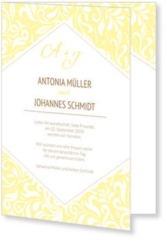 Einladungskarten Hochzeit, Zarte Ranken