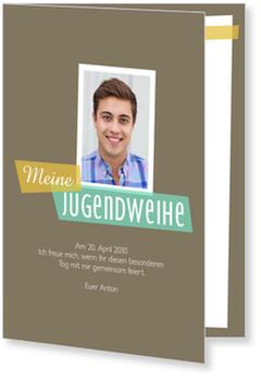 Einladungskarten Jugendweihe, Moderne Einladung