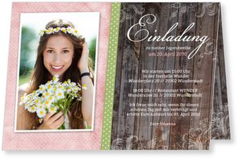 Einladungskarten Jugendweihe, Wunderbare Jugendweihe in Rot