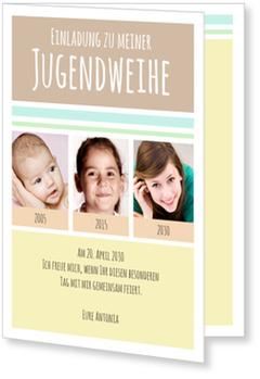 Einladungskarten Jugendweihe, Zeitreise