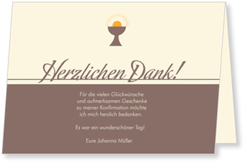 Danksagungskarten Konfirmation, Heiliger Kelch
