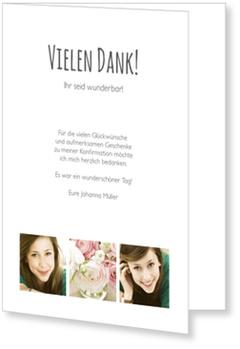 Danksagungskarten Konfirmation, Schlichte Eleganz