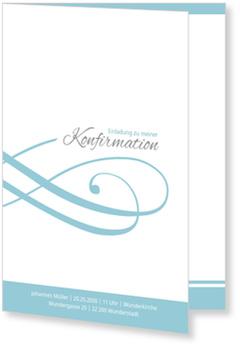 Einladungskarten Konfirmation, Schleife