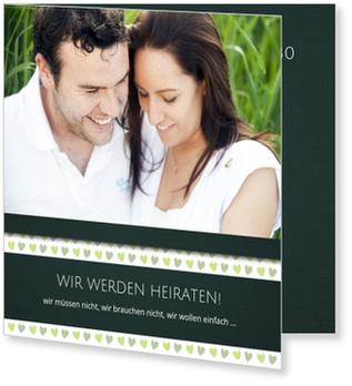Einladungskarten Hochzeit, Mein Herzchen in Stachelbeere
