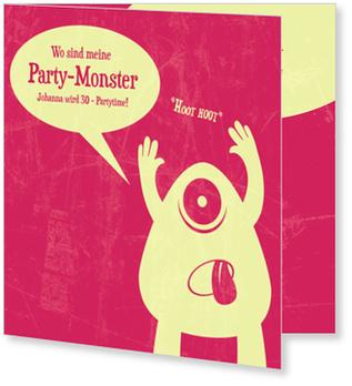 Einladungskarten Geburtstag, Monstaparty