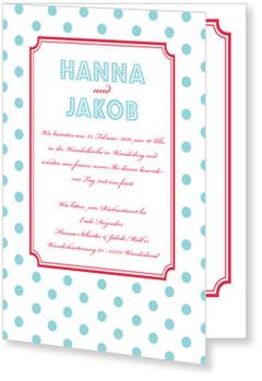 Einladungskarten Hochzeit, Hochzeitseinladung: Pünktchen