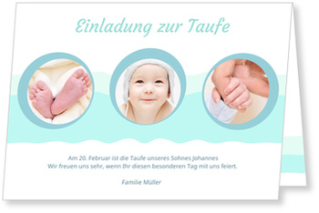 Einladungskarten Taufe, Kleine Kreise