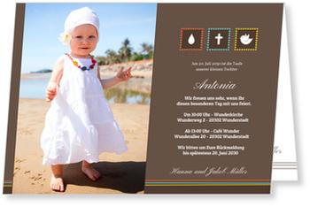 Einladungskarten Taufe, Kleine Symbole