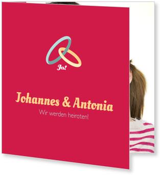 Einladungskarten Hochzeit, Hochzeit in Bordeaux