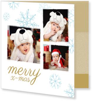 Weihnachtskarten Baby, Snow