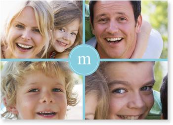 Family Monogram in Blue