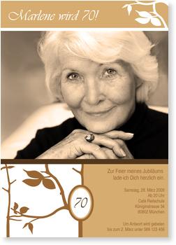 Einladungskarten 70. Geburtstag, Edel zum 70. Geburtstag mit Foto