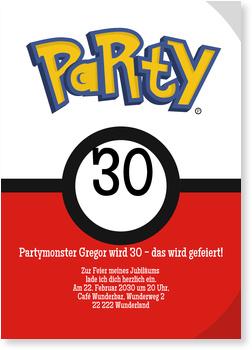 Einladungskarten Geburtstag, Partymonster