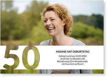 Einladungskarten 50. Geburtstag, Schablone