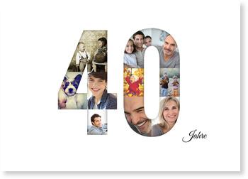 Einladungskarten 40. Geburtstag, Bildreiche Vierzig