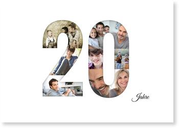 Einladungskarten Geburtstag, Bildreiche Zwanzig