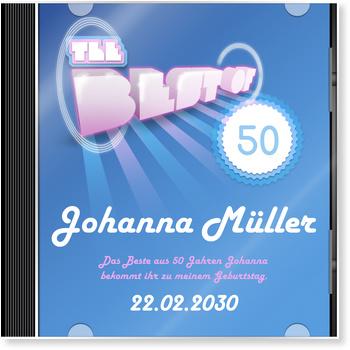 Einladungskarten 50. Geburtstag, CD-Cover Pop