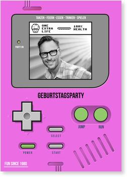 Einladungskarten 40. Geburtstag, Partygame in Pink