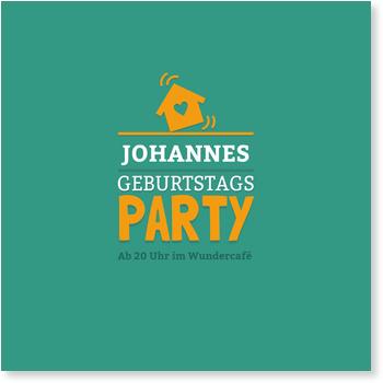 Einladungskarten 40. Geburtstag, Partyhouse