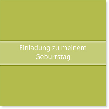 Einladungskarten Geburtstag, Simpel in Grün