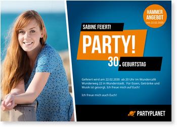 Einladungskarten 30. Geburtstag, Werbeflyer
