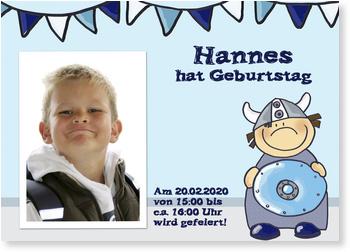 Einladungskarten Kindergeburtstag, Wikingerfeier