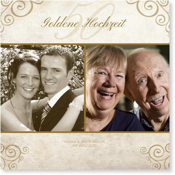 Einladungskarten Goldene Hochzeit | Lieferzeit 1-2 Werktage