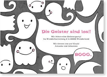 Einladungskarten Halloween , Geisterparty!