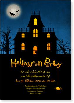 Einladungskarten Halloween , Halloween - Gruselhaus