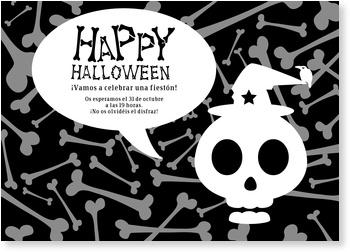 Einladungskarten Halloween , Halloween Knochen