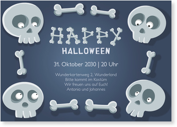 Einladungskarten Halloween , Knochenfreunde