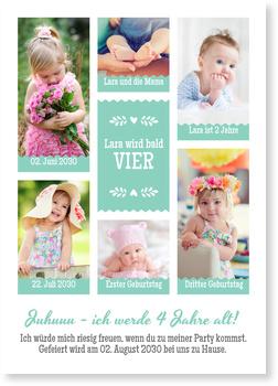 Einladungskarten Kindergeburtstag, Bildergalerie in Mint