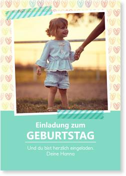 Einladungskarten Kindergeburtstag, Herzilein