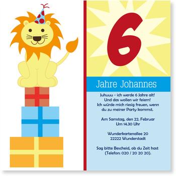 Einladungskarten Kindergeburtstag, Löwe