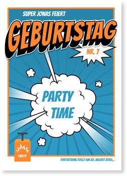 Einladungskarten Kindergeburtstag, Partyknaller