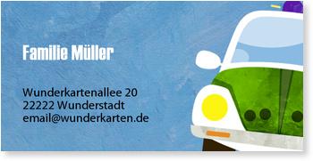 Adressaufkleber Geburtstag, Kleine Polizei