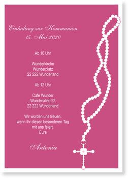 Einladungskarten Kommunion | Lieferzeit 1-2 Werktage