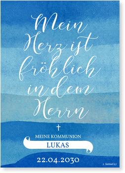 Mein Herz Einladungskarten Kommunion