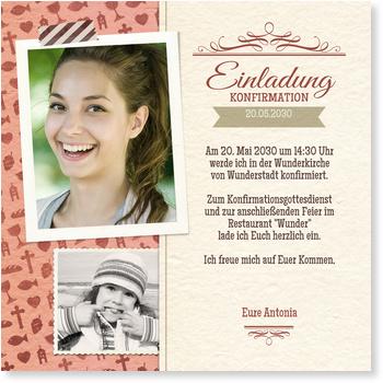 Einladungskarten Konfirmation, Collage