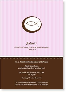 Einladungskarten Konfirmation, Ichthys in Rosa