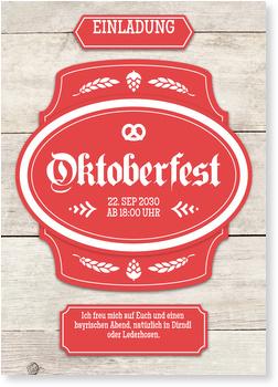 Einladungskarten Oktoberfest, Banner