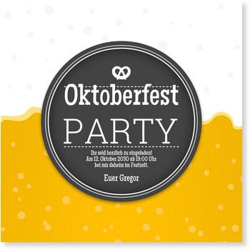 Einladungskarten Oktoberfest, Bierlabel