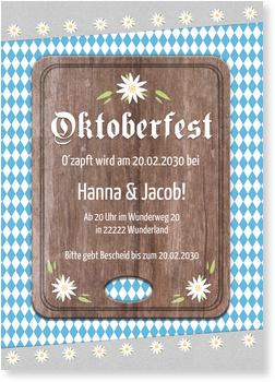 Einladungskarten Oktoberfest, Brotzeit