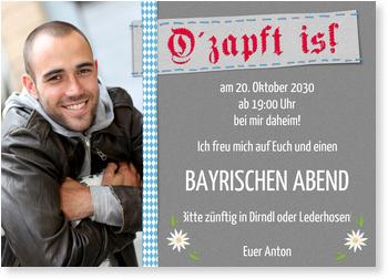 Einladungskarten Oktoberfest, O' zapft is!