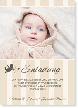 Einladungskarten Taufe, Kleines Engelchen
