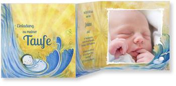 Einladungskarten Taufe, Wasserfall